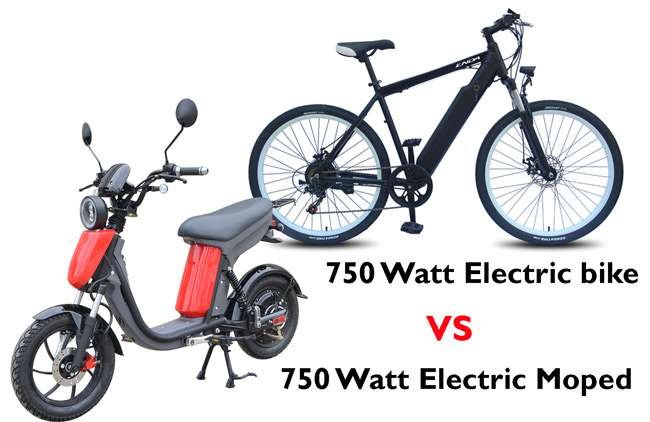 New Electric Mopeds for adults vs Electric Bike comparison